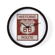 Warwick Route 66 Wall Clock