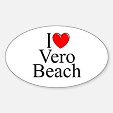 """I Love Vero Beach"" Oval Decal"