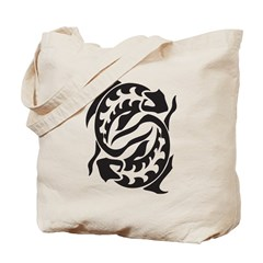 Tribal Pisces Tote Bag