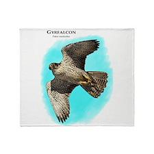 Gyrfalcon Throw Blanket