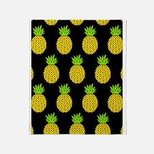 'Pineapples' Throw Blanket