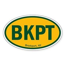 Euro Oval Decal - SUNY BKPT Decal