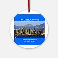 San Diego California Personalized Ornament (round)