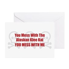 Mess With Klee Kai Greeting Cards (Pk of 10)