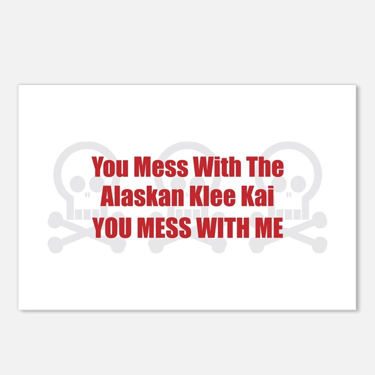 Mess With Klee Kai Postcards (Package of 8)