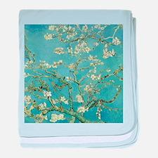Van Gogh Almond blossom baby blanket