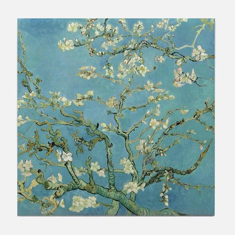 Van Gogh Almond blossom Tile Coaster