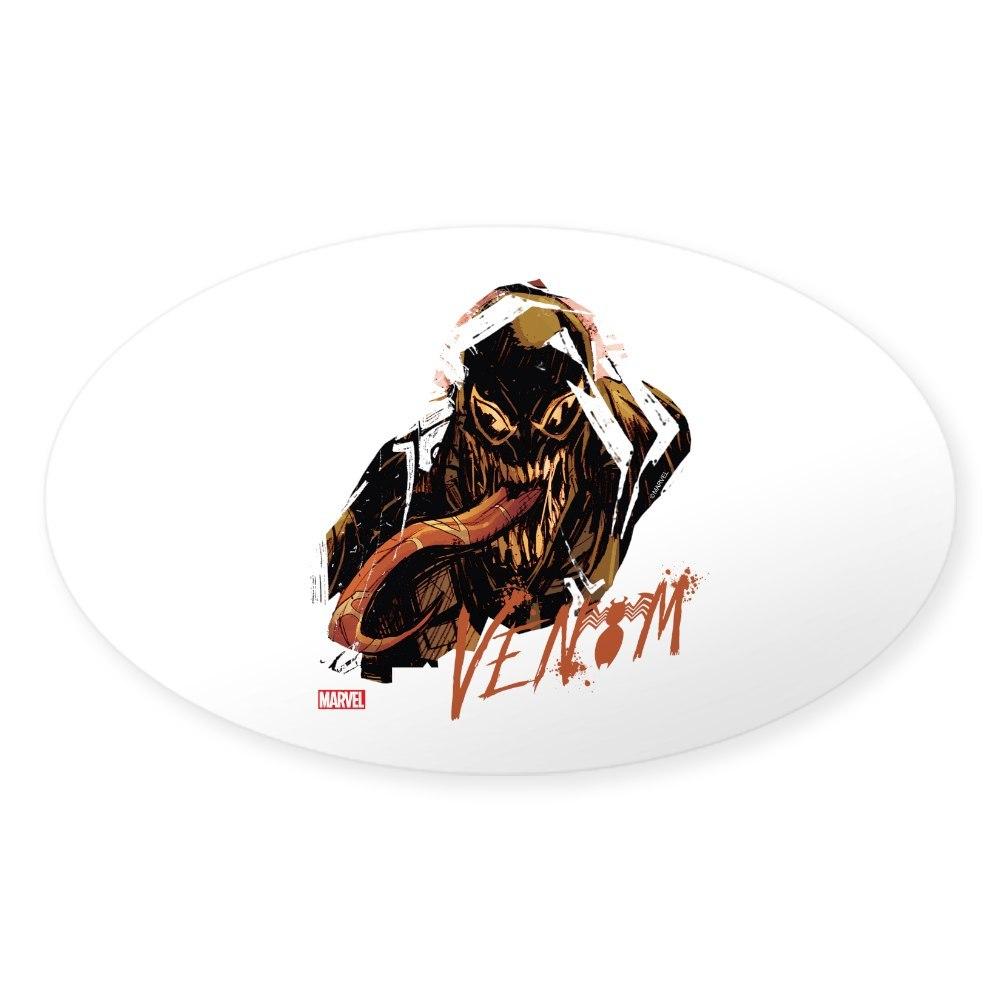 Euro Oval Car Decal 1351942944 CafePress Abstract Venom Oval Bumper Sticker
