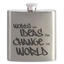 Words and Ideas Change the World Flask