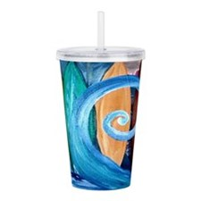 Surf the Curl Art Acrylic Double-wall Tumbler