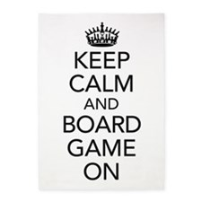 Keep Calm and Boardgame on 5'x7'Area Rug