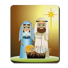 Big Eyed Nativity Scene Mousepad