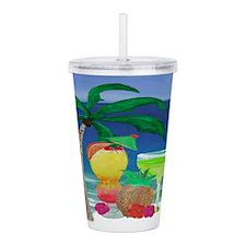 Tropical Beach Drinks Acrylic Double-Wall Tumbler