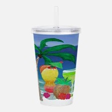 Tropical Beach Drinks Acrylic Double-Wall Tumbler