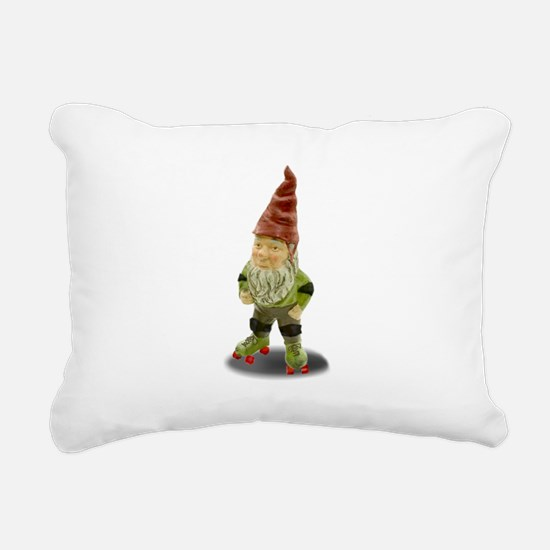 The Rolling Gnome Rectangular Canvas Pillow