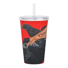 Black Bear Cheers Art Acrylic Double-wall Tumbler