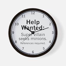 Minions Wanted Wall Clock