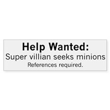 Minions Wanted Bumper Sticker