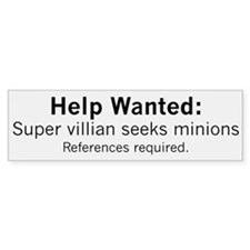Minions Wanted Car Sticker