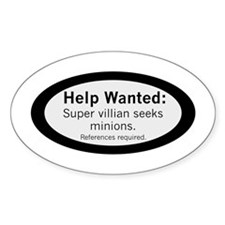 Minions Wanted Decal