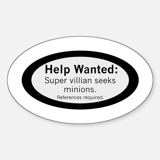 Minions Wanted Sticker (Oval)