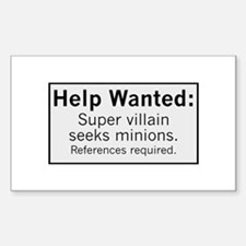 Minions Wanted Sticker (Rectangle)