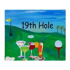 Golf Art Throw Blanket