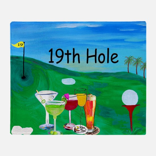 Golf Art Throw Blanket