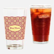 Trendy Elegant Pattern Personalized Drinking Glass