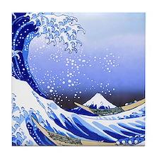 Cute The great wave off kanagawa Tile Coaster