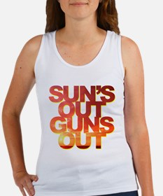 Funny Saying - Sun's Out Guns Out Women's Tank Top