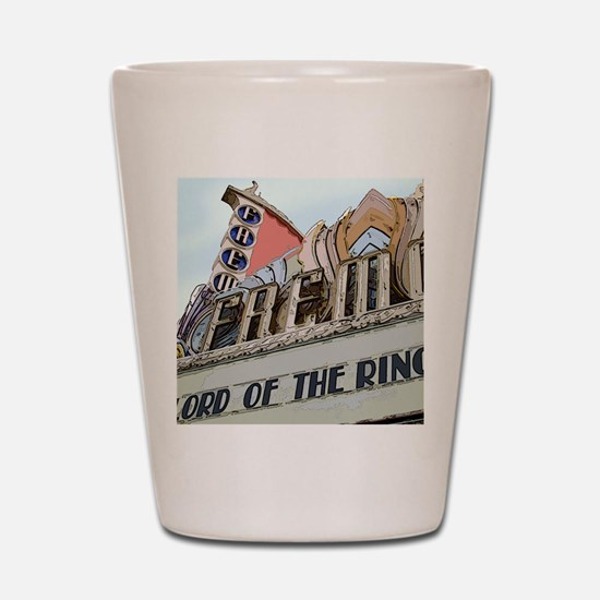 Pebble beach california Shot Glass