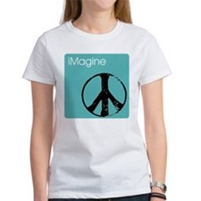 iimaginepeacenanoblue copy T-Shirt
