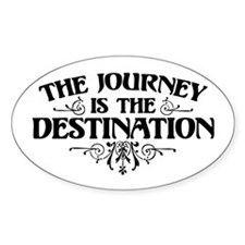 The Journey Oval Decal