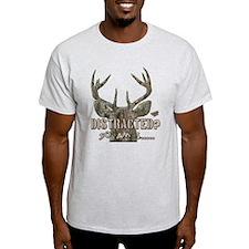 Distracted? So am I Dazed Deer Head Camo T-Shirt