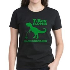 T-Rex Hates Hand Grenades T-Shirt