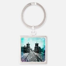 St. Augustine City Gates Square Keychain