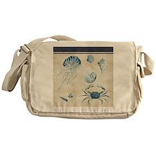 Indigo Ocean Sketchbook Jellyfish Cr Messenger Bag