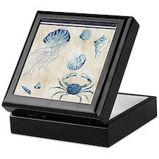 Indigo Ocean Sketchbook Jellyfish Cra Keepsake Box