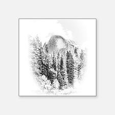 Half Dome Winter Portrait Sticker