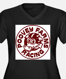 Poovey Farms Racing Plus Size T-Shirt