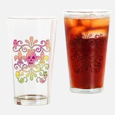 skulls sports t-shirts Drinking Glass