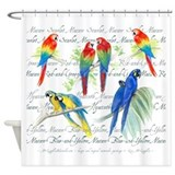 Macaws Shower Curtains