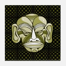 Green Mask Tile Coaster