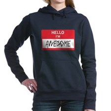 Hello I'm Awesome Women's Hooded Sweatshirt