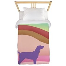 Pink Hills Coonhound (with purple hound Twin Duvet