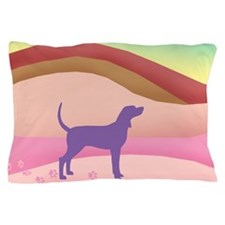 Pink Hills Coonhound (with purple houn Pillow Case