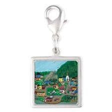 Anytown, NL Silver Square Charm