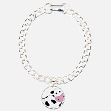 Cute Black and White Cow Bracelet