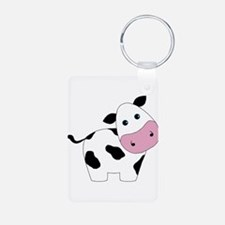 Cute Black and White Cow Keychains